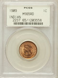 Indian Cents: , 1909 1C MS65 Red PCGS. PCGS Population (616/158). NGC Census:(253/32). Mintage: 14,370,645. Numismedia Wsl. Price for prob...