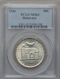 Commemorative Silver: , 1936 50C Delaware MS63 PCGS. PCGS Population (568/3553). NGCCensus: (179/2535). Mintage: 20,993. Numismedia Wsl. Price for...