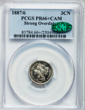 Proof Three Cent Nickels, 1887/6 3CN PR66+ Cameo PCGS. CAC. FS-302....