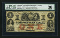Canadian Currency: , Clifton, CW - The Bank of Western Canada $1 Sep. 20, 1859 Ch. #795-10-04. ...