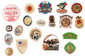 Baseball Collectibles:Others, Baseball, Hockey And Soccer Pin Collection Of 19....