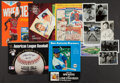 Autographs:Others, Baseball Greats Signed Photographs, Postcards, And Programs....