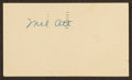 Baseball Collectibles:Others, Mel Ott Signed Government Postcard. ...