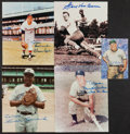 Miscellaneous Collectibles:General, Baseball and Football Greats Signed Photographs, etc. Lot of 5....