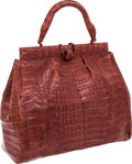 Luxury Accessories:Bags, Nancy Gonzalez Blush Crocodile Tote Bag. ...