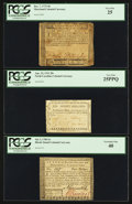 Colonial Notes:Mixed Colonies, Maryland December 7, 1775 $8 PCGS Very Fine 25. North CarolinaApril 23, 1761 20s PCGS Very Fine 25PPQ. Rhode Island July 2, 1...(Total: 3 notes)
