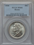 Commemorative Silver: , 1936 50C Boone MS66 PCGS. PCGS Population (317/69). NGC Census:(247/55). Mintage: 12,012. Numismedia Wsl. Price for proble...