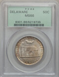 Commemorative Silver: , 1936 50C Delaware MS66 PCGS. PCGS Population (657/83). NGC Census:(473/94). Mintage: 20,993. Numismedia Wsl. Price for pro...