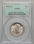 Standing Liberty Quarters: , 1924-D 25C MS65 PCGS. PCGS Population (491/96). NGC Census:(430/285). Mintage: 3,112,000. Numismedia Wsl. Price for proble...