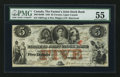 Canadian Currency: , Toronto, UC- The Farmer's Joint Stock Bank $5 Feb. 1, 1849 Ch. # 280-04-08. ...