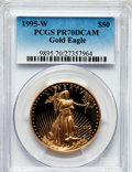 Modern Bullion Coins: , 1995-W G$50 One-Ounce Gold Eagle PR70 Deep Cameo PCGS. PCGSPopulation (177). NGC Census: (716). Numismedia Wsl. Price for...