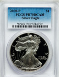 Modern Bullion Coins: , 2000-P $1 Silver Eagle PR70 Deep Cameo PCGS. PCGS Population (538).NGC Census: (1879). Numismedia Wsl. Price for problem ...