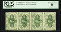 Fractional Currency:First Issue, Fr. 1242 10¢ First Issue Vertical Strip of Four PCGS Extremely Fine45.. ...