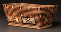American Indian Art:Baskets, A NORTHWEST COAST POLYCHROME STORAGE BASKET...