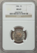 Liberty Nickels, 1886 5C MS63 NGC....