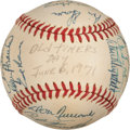 Baseball Collectibles:Balls, 1971 Los Angeles Dodgers Old Timers Multi Signed Baseball (23 Signatures). ...