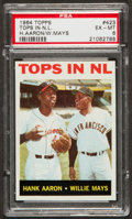 Baseball Cards:Singles (1960-1969), 1964 Topps Tops In N.L. Aaron/Mays #423 PSA EX-MT 6....