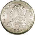 Bust Dimes: , 1821 10C Large Date MS65 PCGS. JR-6, R.2. There is no trace oftoning on this fairly bright coin. The strike is decent, wit...