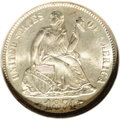 Seated Dimes: , 1874-S 10C Arrows MS66 NGC. Throughout the various series of UnitedStates coins, certain issues have become known as condi...
