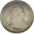 Early Quarters: , 1796 25C VG8 PCGS. B-2, R.3. The 1796 quarter is a one-year type,and, as such, is necessary for the completion of a type s...