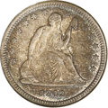 Seated Quarters: , 1842-O 25C Small Date MS63 NGC. Briggs 1-A, later die state. An important offering for the specialist, the 1842-O Small Dat...