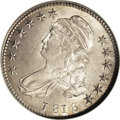 Bust Half Dollars: , 1818 50C MS66 NGC. O-114, R.3. Star 1 is widely repunched, and thishelps identify this relatively scarce die marriage. Thi...