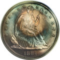 "Proof Seated Half Dollars: , 1884 50C PR68 PCGS. Breen-5034, WB-101. This is the ""second die""described in Breen's proof Encyclopedia, where he comm..."