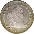 Early Dollars: , 1796 $1 Small Date, Large Letters AU50 PCGS. B-4, BB-61, R.2. DieState I per the Bowers-Borc...