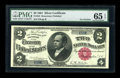 Large Size:Silver Certificates, Fr. 245 $2 1891 Silver Certificate PMG Gem Uncirculated 65 EPQ....
