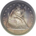 Proof Seated Dollars: , 1857 $1 PR64 PCGS. Breen-5455. This year marked the passing of thelarge cent, and the Mint s...