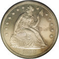 Proof Seated Dollars: , 1858 $1 PR62 PCGS. In 1858 the U.S. Mint, under the directorship ofJames Ross Snowden, began...