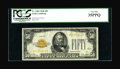 Small Size:Gold Certificates, Fr. 2404 $50 1928 Gold Certificate. PCGS Very Fine 35PPQ.. ...