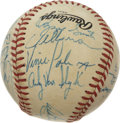 Autographs:Baseballs, 1985 St. Louis Cardinals Team Signed Baseball. At the close of athrilling 101-win season, the 1985 St. Louis Cardinals fel...