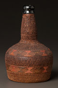 American Indian Art:Baskets, A TLINGIT TWINED BOTTLE. c. 1890...