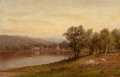 Fine Art - Painting, American:Antique  (Pre 1900), CHARLES W. KNAPP (American, 1823-1900). New England SummerLandscape (Susquehanna River). Oil on canvas. 16 x 25 inches...