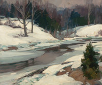 EMILE ALBERT GRUPPE (American, 1896-1978) Winter, Vermont Oil on canvas 25 x 30 inches (63.5 x 76