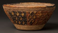 American Indian Art:Baskets, AN ESKIMO COILED BOWL...