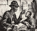Fine Art - Work on Paper:Print, THOMAS HART BENTON (American, 1889-1975). Instruction, 1940.Lithograph. 10-1/4 x 12-1/4 inches (26.0 x 31.1 cm) (image)...
