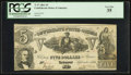 Confederate Notes:1861 Issues, T37 $5 1861 PF-1 Cr. 284. ...