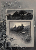 Paintings, EDWARD PARKER HAYDEN (American, 1858-1922). Morning and Evening, 1880. Oil en grisaille on card board. 12 x 8 inches (30...