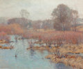 Fine Art - Painting, American:Antique  (Pre 1900), ALEXANDER THEOBALD VAN LAER (American, 1857-1920). SpringWetlands. Oil on canvas. 18 x 22 inches (45.7 x 55.9 cm).Sign...