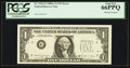 Error Notes:Missing Third Printing, Fr. 1916-G $1 1988A Federal Reserve Note. PCGS Gem New 66PPQ.. ...