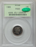 Proof Barber Dimes, 1904 10C PR65 PCGS. CAC....