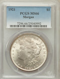 Morgan Dollars: , 1921 $1 MS66 PCGS. PCGS Population (344/7). NGC Census: (544/7).Mintage: 44,690,000. Numismedia Wsl. Price for problem fre...
