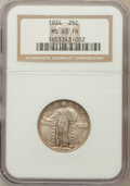 Standing Liberty Quarters: , 1924 25C MS63 Full Head NGC. NGC Census: (53/186). PCGS Population(76/203). Mintage: 10,920,000. Numismedia Wsl. Price for...