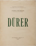 Books:Art & Architecture, Alfred Neumeyer. Durer. Paris: Les Editions G. Cres et Cie, [1929]. Folio. With 101 full-page plates of heliogra...