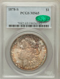 Morgan Dollars: , 1878-S $1 MS65 PCGS. CAC. PCGS Population (3621/611). NGC Census:(3960/506). Mintage: 9,774,000. Numismedia Wsl. Price for...