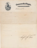 Autographs:Military Figures, Fitzhugh Lee Typed Letter Signed...