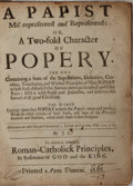 Books:Religion & Theology, Sammelband of Five Works on the Papacy Printed in 1686. London: 1686. Contemporary leather, rebacked. Gilt spine titles. Boo...