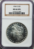Morgan Dollars, 1904-O $1 MS66 Deep Mirror Prooflike NGC....